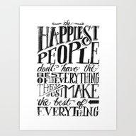 THE HAPPIEST PEOPLE... (… Art Print