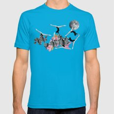 Magical Attack Mens Fitted Tee Teal SMALL
