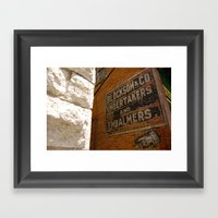 Undertakers and embalmers Framed Art Print