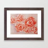 Floating Roses Framed Art Print