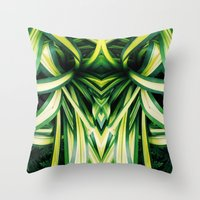 50 Shades of Green (3) Throw Pillow