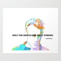 James Dean Quote Art Print