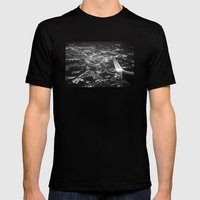 Fly Over Cities Mens Fitted Tee Black SMALL