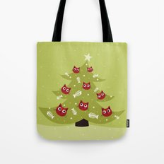 Cat Christmas Tree Tote Bag