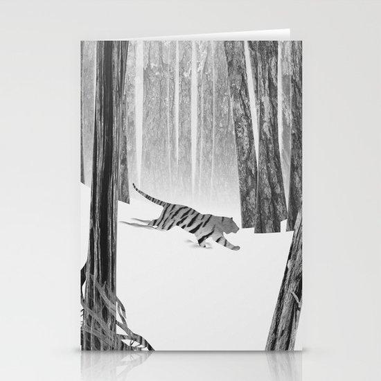 Martwood Tiger Stationery Card