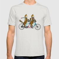 fox days lets tandem Mens Fitted Tee Silver SMALL