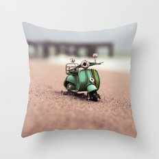 November's Beach Throw Pillow