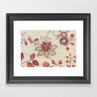 Vitage Rose Framed Art Print