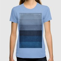 Greece Hues Womens Fitted Tee Athletic Blue SMALL