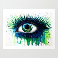 -The peacock- Art Print