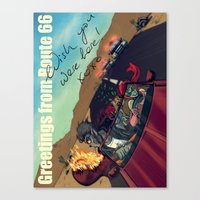 Ginny & Clutch (Greetings From Route 66) Canvas Print
