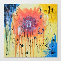 Bleeding poppy Canvas Print