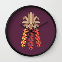 Indian Corn Wall Clock