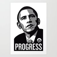 obama Art Prints featuring Obama by loveme