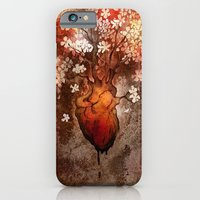 iPhone & iPod Case featuring This Bleeding Blossoming Heart by Alex Kujawa