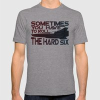 Hard Six Mens Fitted Tee Athletic Grey SMALL