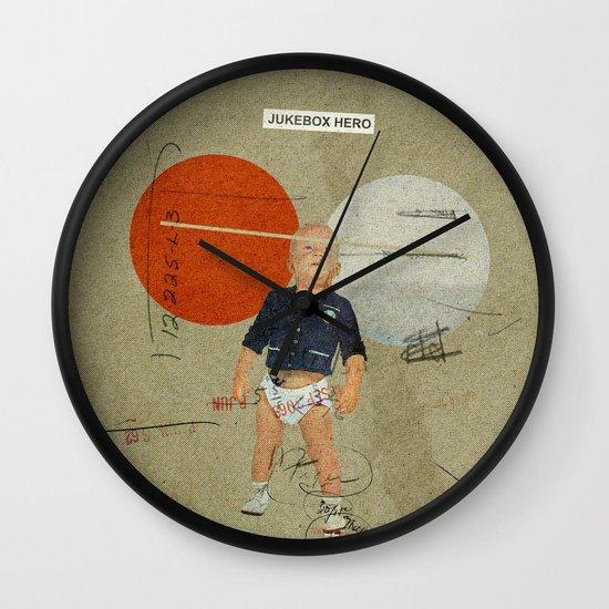 Jukebox Hero | Collage Wall Clock