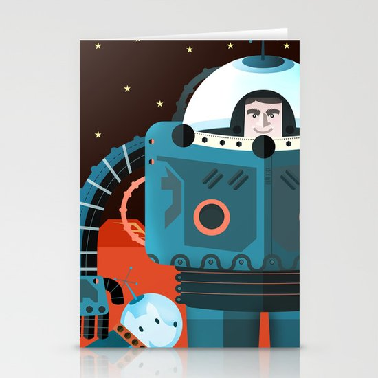 Life on mars Stationery Card
