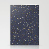 Speckles I: Dark Gold On… Stationery Cards