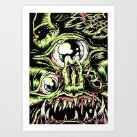 Big Monsterface Art Print