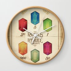 Legend of Zelda - The Rupees of Hyrule Kingdom Guide Wall Clock