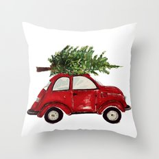 Red Christmas Beetle  Throw Pillow