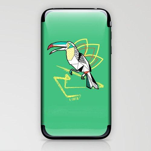 Geometric toucan iPhone & iPod Skin