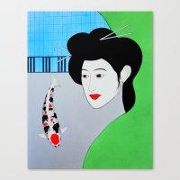 Koi Tancho Geisha Canvas Print