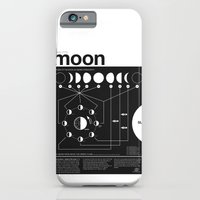 woman iPhone & iPod Cases featuring Phases of the Moon infographic by Nick Wiinikka