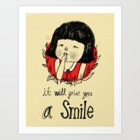 Shiiii- You Will Smile :… Art Print
