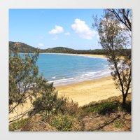 Idyllic tropical beach Canvas Print