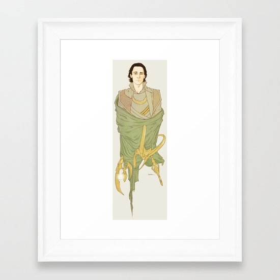 Loki Framed Art Print