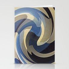 Bluetan Swirl Stationery Cards