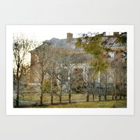 The Secret Garden Mansio… Art Print