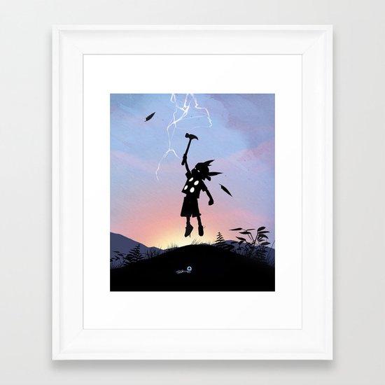 Thor Kid Framed Art Print