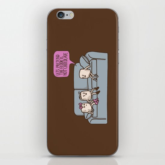 The Floor is Hot Chocolate! iPhone & iPod Skin
