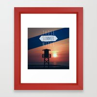 Those Summer Nights (Reprise) Framed Art Print