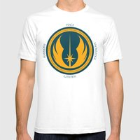 The Jedi Code Mens Fitted Tee White SMALL