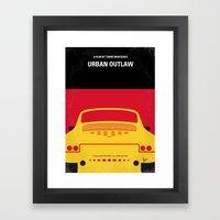 No316 My URBAN OUTLAW minimal movie poster Framed Art Print
