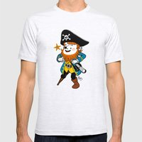 Pirate's Ahoy! Mens Fitted Tee Ash Grey SMALL