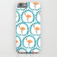 Flamingo and Leaves iPhone 6 Slim Case