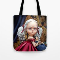 Annabelle White Tote Bag