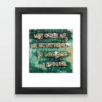 Pickup Lines - Swag Framed Art Print
