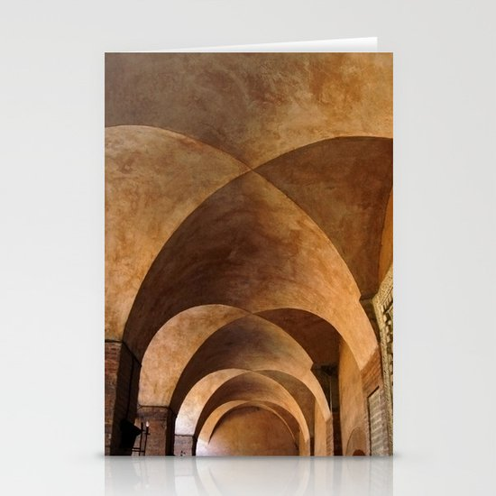 Symmetrical ceiling in Rome. Stationery Card