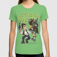 Star Wars - Han Solo X B… Womens Fitted Tee Grass SMALL