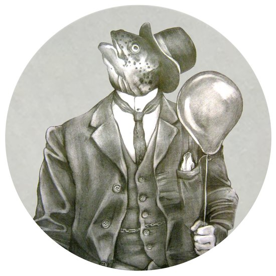 In which a dapper fish is encircled Art Print