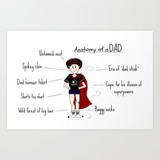 Anatomy of a DAD Art Print