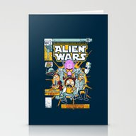 Alien Wars Stationery Cards