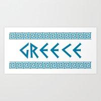 Greece Nation Text Art Print
