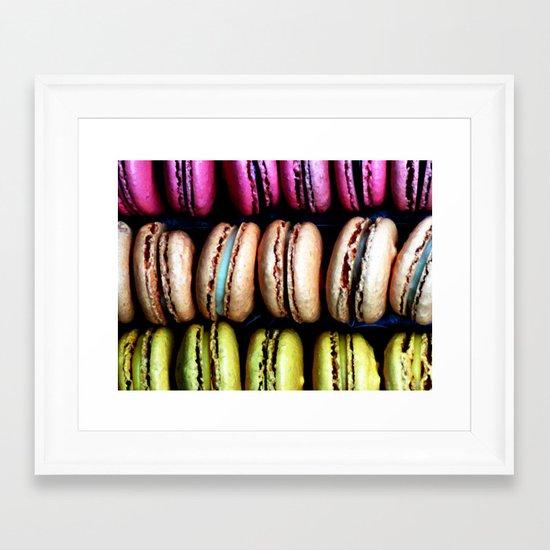 Petits macarons Framed Art Print